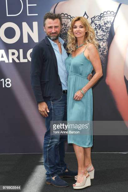 Alexandre Brasseur and Ingrid Chauvin from the serie 'Demain Nous Appartient' attend a photocall during the 58th Monte Carlo TV Festival on June 16...
