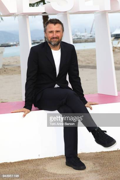 Alexandre Brasseur attends photocall for 'Demain nous appartient' during the 1st Cannes International Series Festival on April 9 2018 in Cannes France