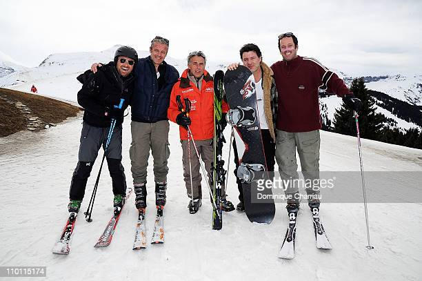 Alexandre Brasseur David Brecourt Gerard Holtz Philippe Lellouche and Christian vadim attend the 27th International Festival MontBlanc Humour at 'le...