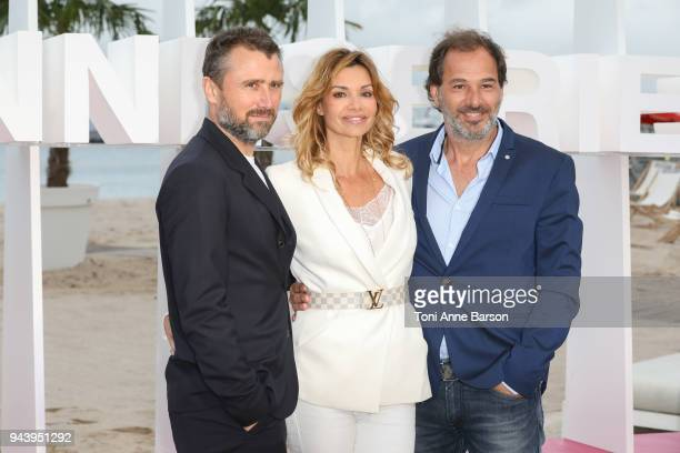 Alexandre Brasseur Ingrid Chauvin and Thierry Peythieu attend photocall for 'Demain nous appartient' during the 1st Cannes International Series...