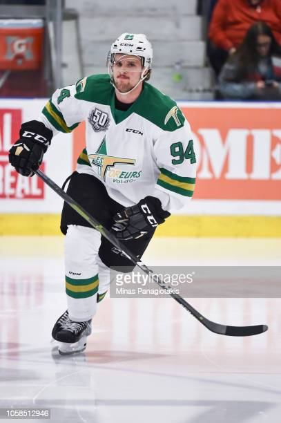 Alexandre Couture of the Valdu2019Or Foreurs skates in the warmup prior to the QMJHL game against the BlainvilleBoisbriand Armada at Centre...