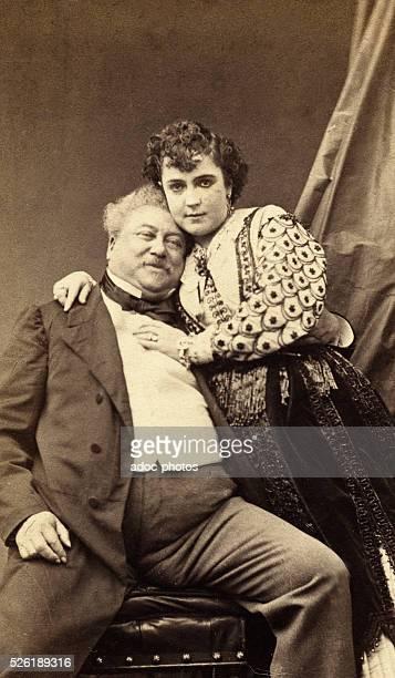 Alexandre Davy de la Pailleterie, called Alexandre Dumas P��re . French writer, with the American actress Adah Isaacs Menken . Ca. 1865.