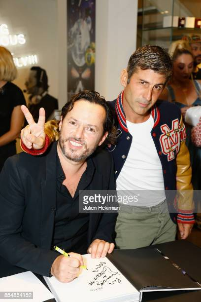 Alexandre de Betak and Andre Saraiva attend the Betak Cocktail at Colette as part of the Paris Fashion Week Womenswear Spring/Summer 2018 on...