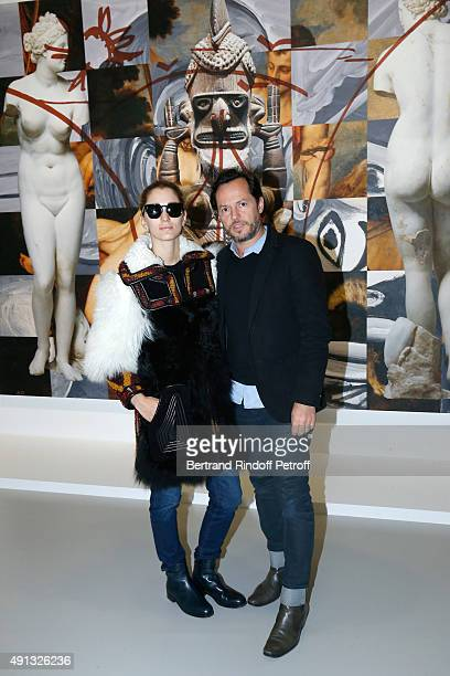 Alexandre de Betak and his wife Sofia Sanchez attend the 'Picasso Mania' Press Preview Held at Grand Palais on October 4 2015 in Paris France