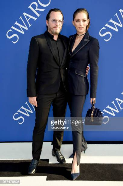 Alexandre de Betak and Sofia Sanchez de Betak attend the 2018 CFDA Fashion Awards at Brooklyn Museum on June 4, 2018 in New York City.