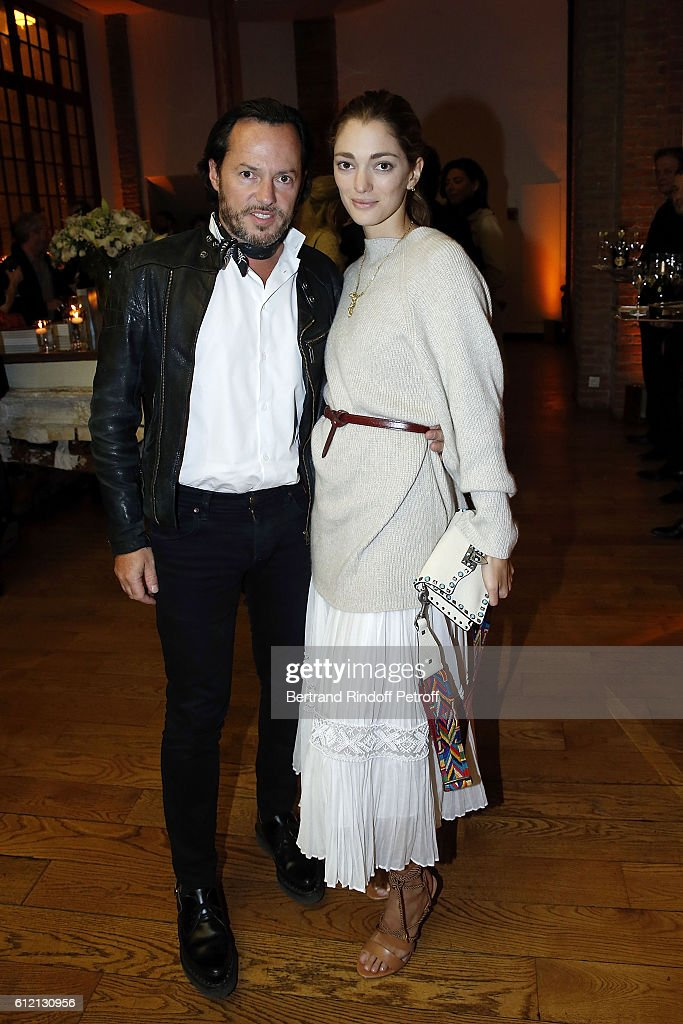 Alexandre de Betak and Sofia Sanchez de Betak attends the private Dinner hosted by Surface Magazine And Azzedine Alaia Private Dinner as part of Paris Fashion Week Spring/Summer 2017on October 2, 2016 in Paris, France.