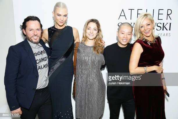 Alexandre de Betak Karlie Kloss Sofia Sanchez de Betak Jason Wu and attend the Atelier Swarovski By Jason Wu dinner as part of the Paris Fashion Week...