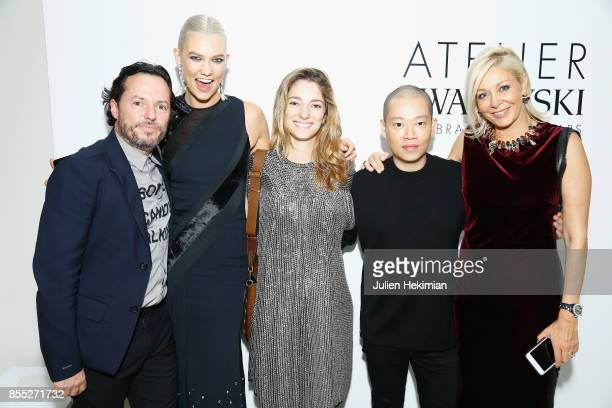 Alexandre de Betak Karlie Kloss Sofia Sanchez de Betak Jason Wu and attend the Atelier Swarovski By Jason Wu dinner as part of the Paris Fashion Week...