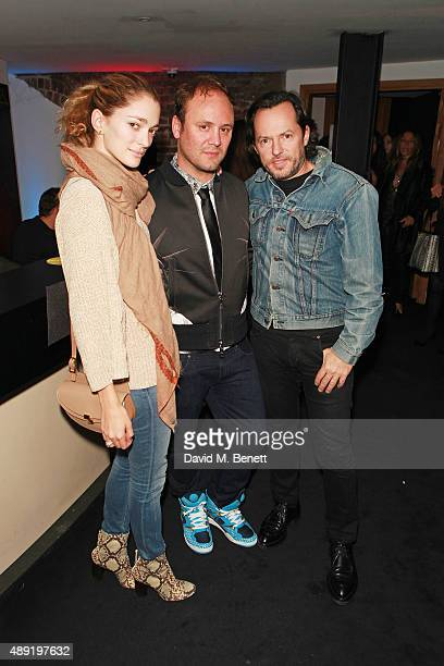 Alexandre De Betak Nicholas Kirkwood and Sofia Sanchez De Betak attend Nicholas Kirkwood 10 year collection Launch and Party during London Fashion...