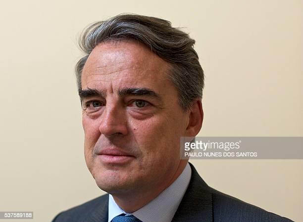 Alexandre de Juniac former CEO of Air FranceKLM poses at the International Air Transport Association's annual general meeting in Dublin Ireland on...