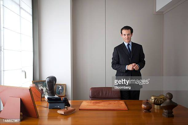 Alexandre de Rothschild executive director of the Rothschild Group and a member of the supervisory board of Paris Orleans SA poses for a photograph...