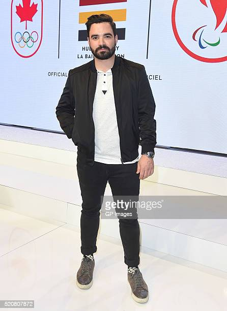 Alexandre Despatie attends the Hudson's Bay Company Launch of the Team Canada Collection For Rio 2016 at the Art Gallery of Ontario on April 12 2016...