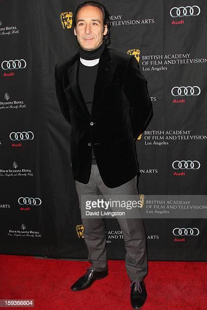 Alexandre Desplat arrives at the BAFTA Los Angeles 2013 Awards Season Tea Party held at the Four Seasons Hotel Los Angeles on January 12 2013 in Los...