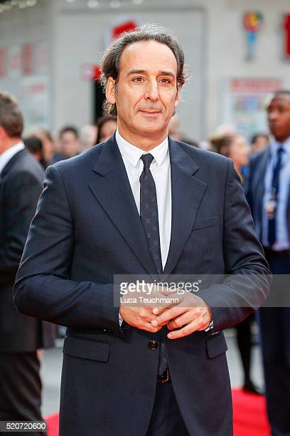 """Alexandre Desplat arrives for the UK film premiere Of """"Florence Foster Jenkins"""" at Odeon Leicester Square on April 12, 2016 in London, England."""
