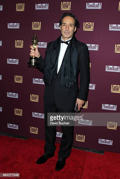 Alexandre Desplat attends the 21st Century Fox and Fox Searchlight Oscar Party at BOA Steakhouse on February 22 2015 in West Hollywood California