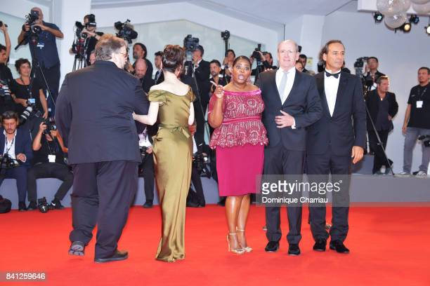 Alexandre Desplat Richard Jenkins Octavia Spencer Sally Hawkins and Guillermo Del Toro walk the red carpet ahead of the 'The Shape Of Water'...