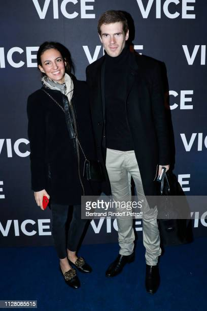 Alexandre Desseigne and a guest attend the Vice Paris Premiere at Cinema Gaumont Opera on February 07 2019 in Paris France