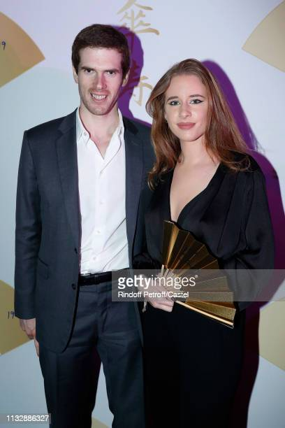 Alexandre Desseigne and his companion attend the 80th Kenzo Takada Birthday Party at Pavillon Ledoyen on February 28 2019 in Paris France