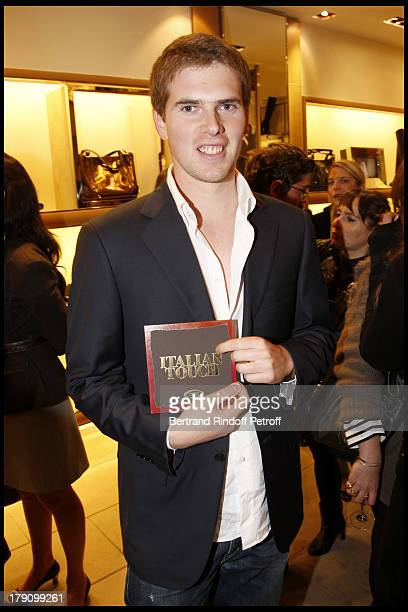 Alexandre Desseigne at Tod's Boutique Hosts The Book Launch Of Italian Touch By Donato Sartorio In Paris