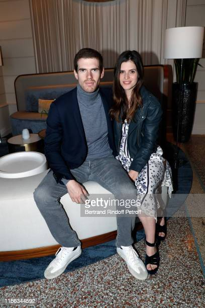 Alexandre DesseigneBarriere and his companion Karen attend the Grand Hotel Barrière Dinard Opening on June 15 2019 in Dinard France