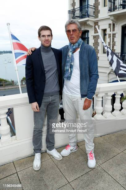 Alexandre DesseigneBarriere and his father Dominique Desseigne attend the Grand Hotel Barrière Dinard Opening on June 15 2019 in Dinard France