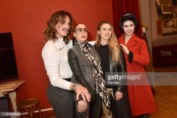 Alexandre Donze Solis Stefanie Renoma Carole Duchene and Elsa Oesinger attend Maurice Renoma Tribute to Street Art Preview at Espace Bernard Palissy...