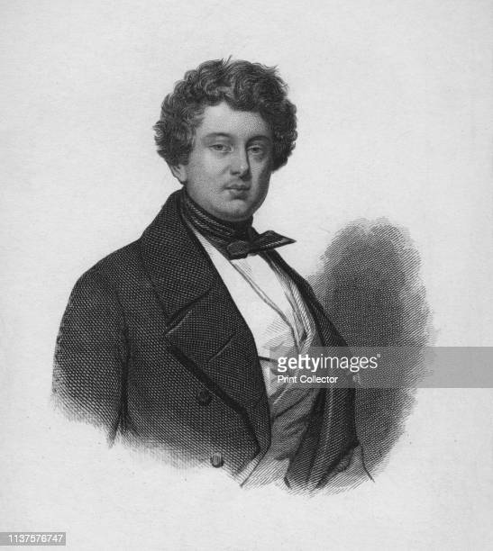 Alexandre Dumas' circa 1850s Portrait of Alexandre Dumas the Elder French novelist and playwright author of popular historical adventure classics...