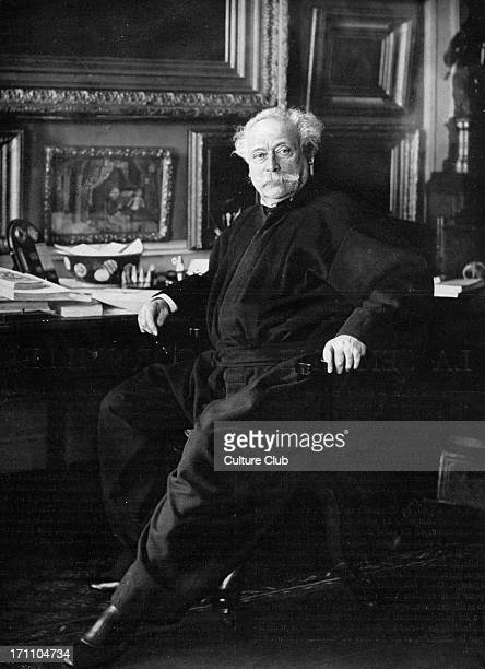 Alexandre Dumas fils at his desk towards the end of his life French author and playwright 27 July 1824 – 27 November 1895