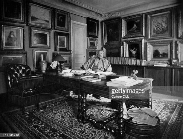Alexandre Dumas fils at his writing desk towards the end of his life French author and playwright 27 July 1824 – 27 November 1895