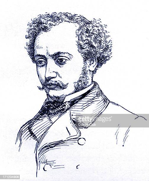 Alexandre Dumas fils portrait of the French author and playwright c 1858 Illustration by Charles Geffroy AD fils 27 July 1824 27 November 1895