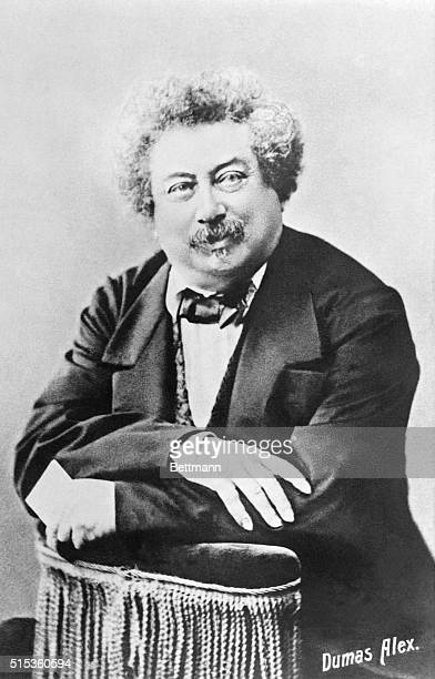 Alexandre Dumas , French novelist and playwright, is shown in a portrait.