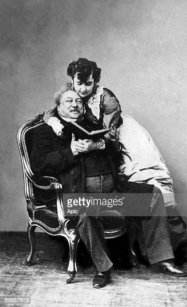 Alexandre Dumas Pere and his mistress Miss Addah Isaac Menken's french writer and his mistress
