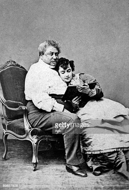 Alexandre Dumas Pere and his mistress Miss Addah Isaac Menken's heroine pirates of the Savanna 3 May 1867 the French writer and his mistress