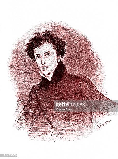 Alexandre Dumas pere French author and playwright c 1832 After lithograph by Achille Deveria 24 July 1802 – 5 December 1870