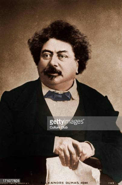 Alexandre Dumas père portrait French author and playwright 24 July 1802 – 5 December 1870