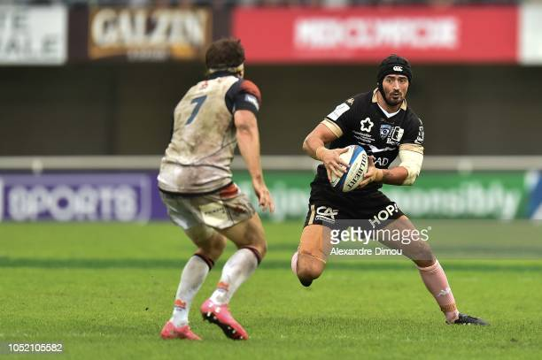 Alexandre Dumoulin of Montpellier during the European Champions Cup match between Montpellier Herault and Edinburgh on October 13 2018 in Montpellier...