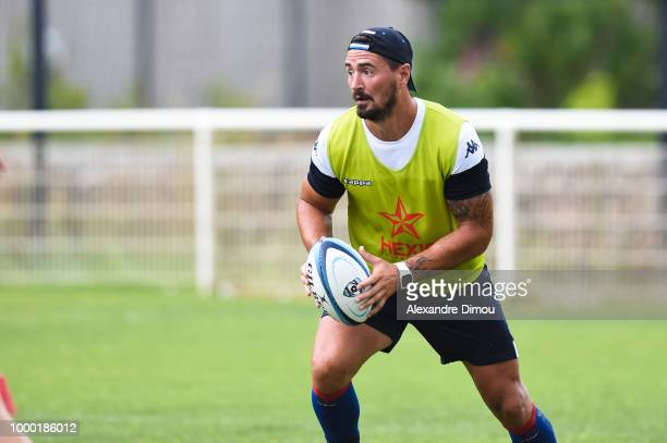 Alexandre Dumoulin of Montpellier during the first training session of the new season 2018/2019 of the Montpellier Herault rugby on July 16 2018 in...