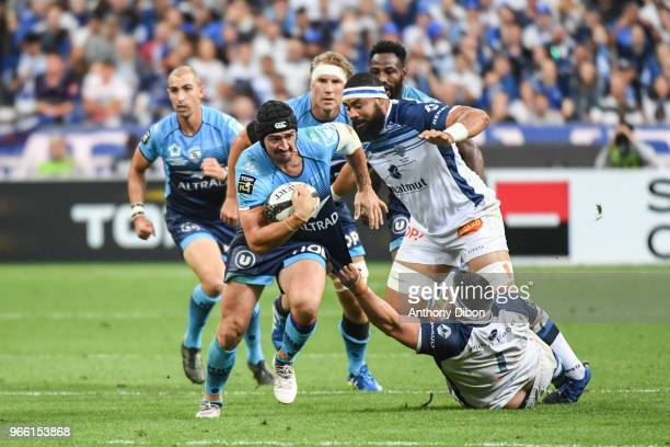 Alexandre Dumoulin of Montpellier during the French Final Top 14 match between Montpellier and Castres at Stade de France on June 2 2018 in Paris...