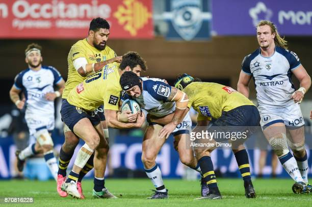 Alexandre Dumoulin of Montpellier during the French Top 14 match between Montpellier and Clermont at Altrad Stadium on November 5 2017 in Montpellier...