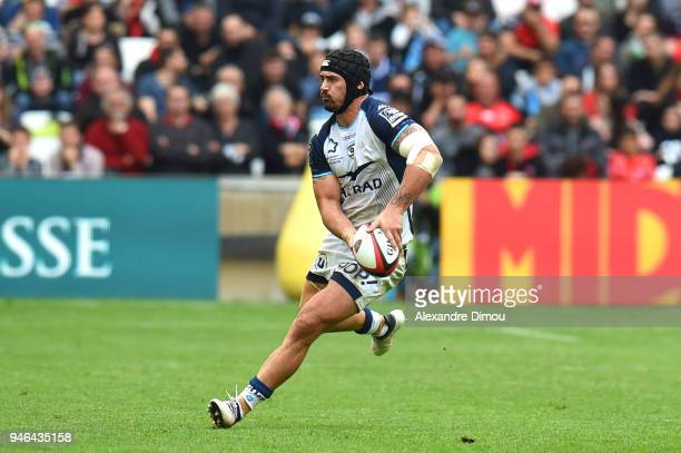 Alexandre Dumoulin of Montpellier during the French Top 14 match between Toulon and Montpellier at Stade Velodrome on April 14 2018 in Marseille...