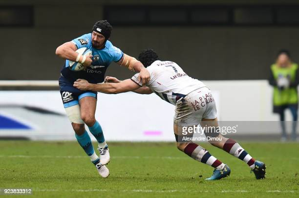 Alexandre Dumoulin of Montpellier during the Top 14 match between Montpellier and Bordeaux Begles on February 24 2018 in Montpellier France