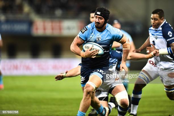 Alexandre Dumoulin of Montpellier during the Top 14 match between Montpellier and Castres at on March 24 2018 in Montpellier France
