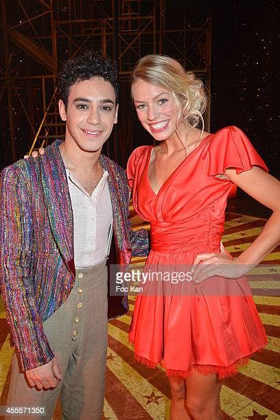 Alexandre Faitrouni and Aurore Delplace perform during the 'Love Circus' Press Preview At the Folies Bergeres on September 16 2014 in Paris France