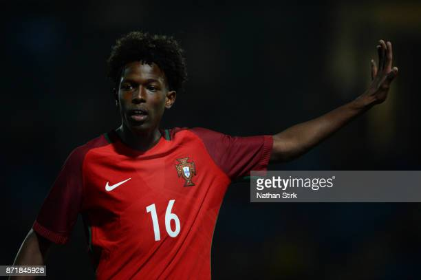 Alexandre Felix Correia Sanches Andrade of Portugal 17s in action during the International Match between England U17 and Portugal U17 at Proact...