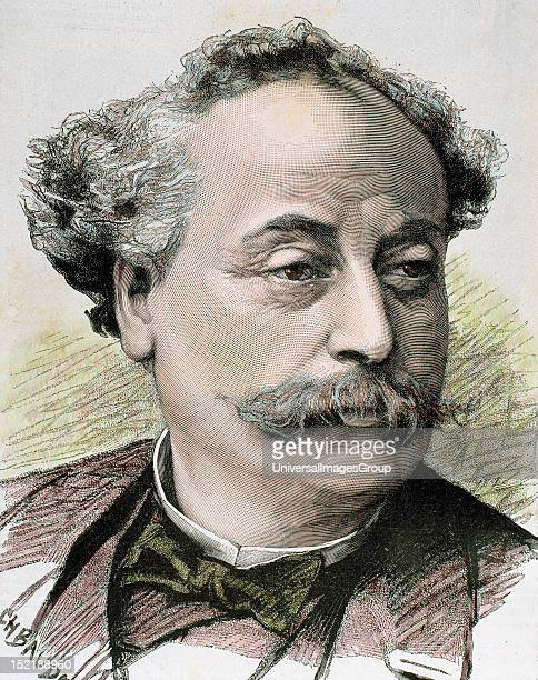 DUMAS Alexandre French novelist and playwright Illegitimate son of Alexandre Dumas Colored engraving