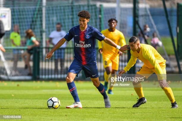 Alexandre Fressange of Psg during the French U19 Championship match between PSG U19 and Entente U19 at Camp des Loges on September 9 2018 in Paris...