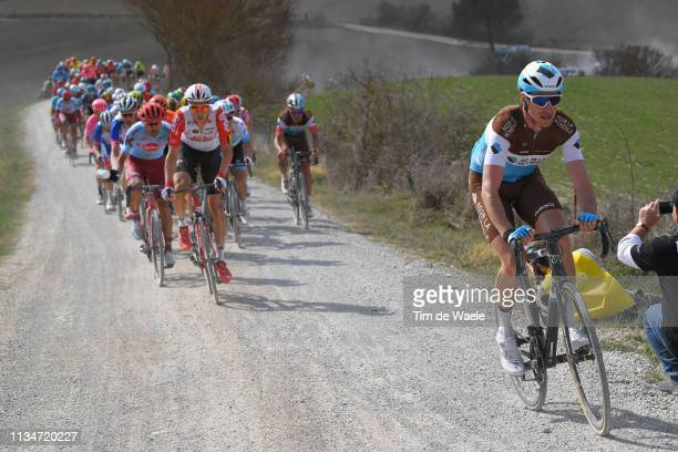 Alexandre Geniez of France and Team AG2R La Mondiale / during the Eroica 13th Strade Bianche 2019 a 184km race from Siena to SienaPiazza del Campo /...