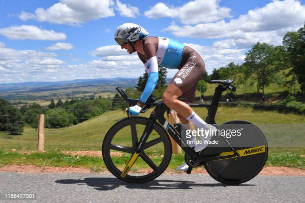 Alexandre Geniez of France and Team AG2R La Mondiale / during the 71st Criterium du Dauphine 2019 Stage 4 a 261km Individual Time Trial stage from...