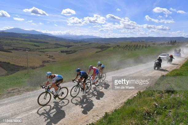 Alexandre Geniez of France and Team AG2R La Mondiale / Leo Vincent of France and Team GroupamaFDJ / Diego Rosa of Italy and Team Team Sky / Nico Denz...