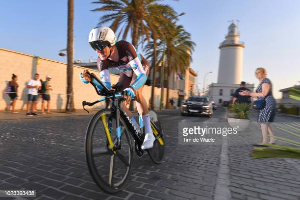 Alexandre Geniez of France and Team AG2R La Mondiale / Lighthouse / Fans / Public / during the 73rd Tour of Spain 2018 Stage 1 a 8km Individual Time...